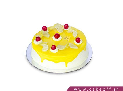 کیک تولد - کیک خامه ای - کیک زرد قناری | کیک آف