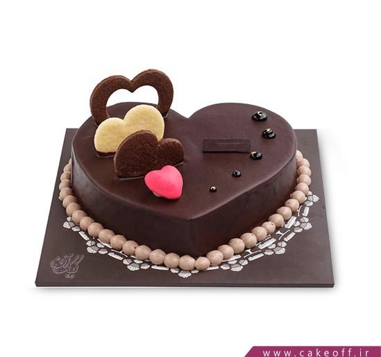 کیک شکلات قلبی