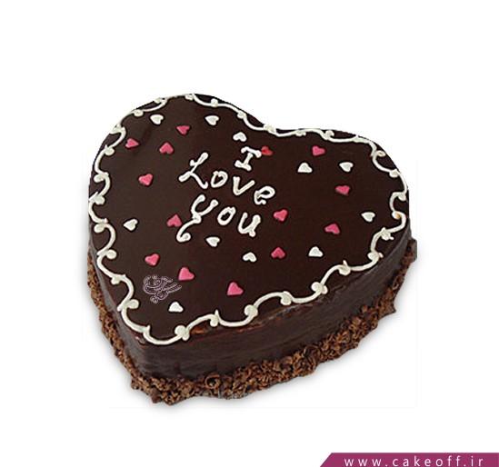 کیک تولد عاشقانه - کیک قلب - کیک از عشق بگو | کیک آف