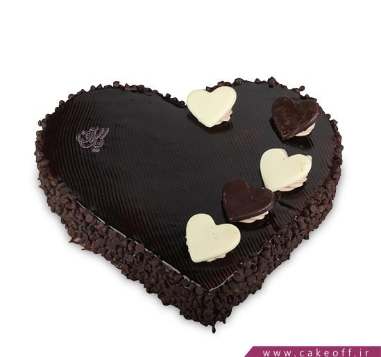 سفارش آنلاین کیک- کیک تولد عاشقانه - کیک به نام عشق | کیک آف