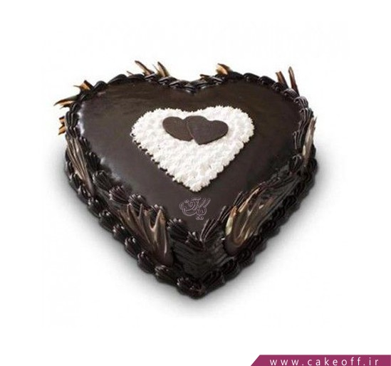 کیک عاشقانه پیوند قلب ها