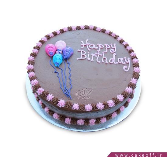 کیک تولد - کیک خامه ای - کیک بادکنک ها می رقصند | کیک آف