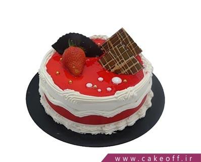 کیک تولد ساده - کیک وانیلی لادن زیبا | کیک آف