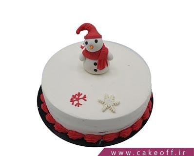 کیک ساده آدم برفی تنها | کیک آف