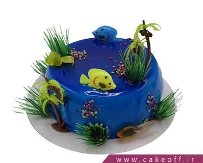 کیک وانیلی - کیک آبی ماهی اقیانوس | کیک آف