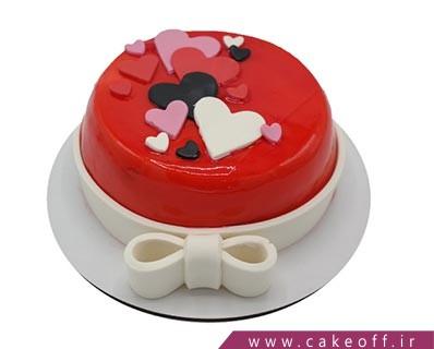 کیک وانیلی - کیک تولد عاشقانه گل بهارم | کیک آف