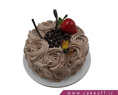 کیک تولد زیبا - کیک شکلاتی ساده نیلدا | کیک آف