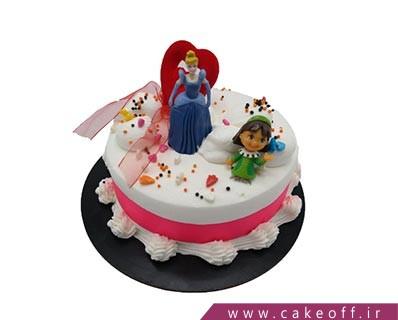 کیک تولد زیبا - کیک سیندرلا عاشق می شود | کیک آف