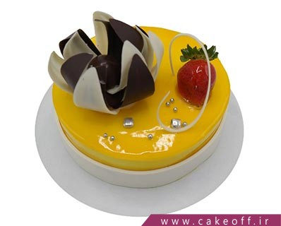کیک تولد ساده - کیک آریا ژله ای | کیک آف