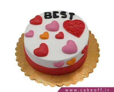 کیک ساده - کیک عاشقانه تو بهترینی | کیک آف