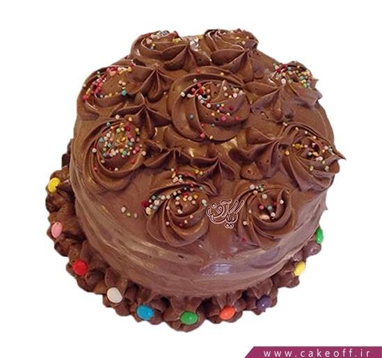کیک کاکائو رنگی | کیک آف