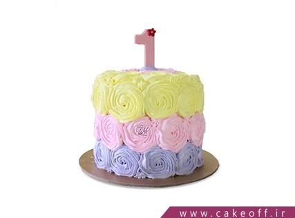 کیک خامه ای رنگ با رنگ | کیک آف