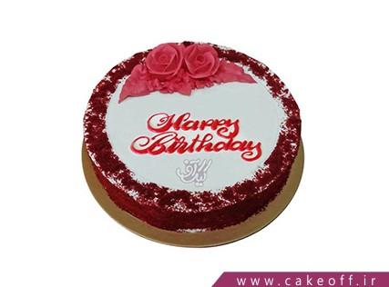 کیک تولد زیبا - کیک افسون گل سرخ | کیک آف
