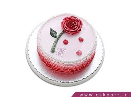کیک  عاشقانه - کیک گل عاشق | کیک آف