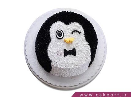 کیک تولد بچگانه - کیک پنگوئن جنتلمن | کیک آف