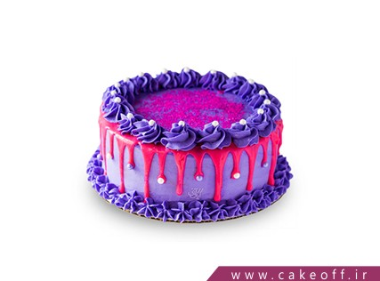 کیک زیبا - کیک بنفش چکه ای | کیک آف
