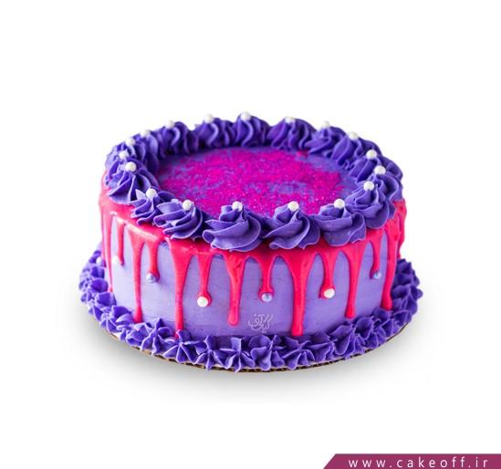 کیک بنفش چکه ای
