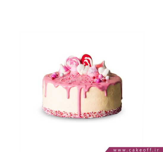 کیک آب نبات چکه ای