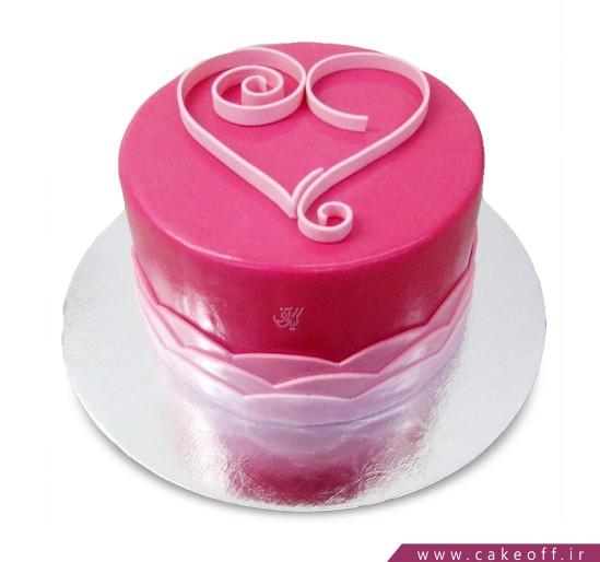 کیک عاشقانه - کیک صدای عاشقانه قلبم | کیک آف