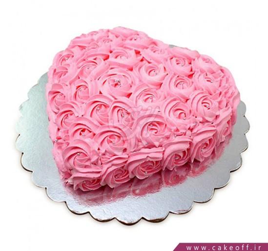 کیک قلب - کیک درخشش یک قلب پاک | کیک آف