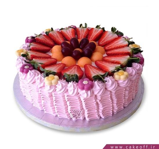 کیک میوه ای باغ صورتی | کیک آف