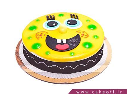 کیک تولد اسفنجی - کیک باب اسفنجی تپل | کیک آف