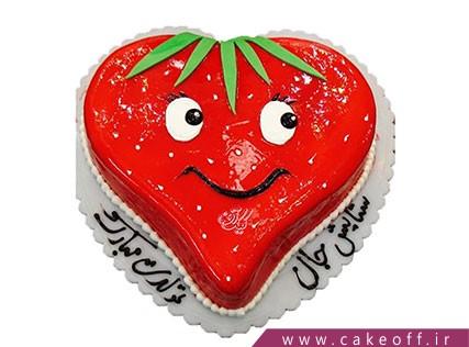 کیک تولد بچگانه - کیک توت فرنگی خانم | کیک آف