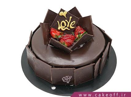 کیک شکلاتی دومینو عاشقانه | کیک آف