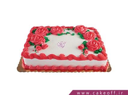 کیک تولد زیبا - کیک خامه ای زیباتر از گل | کیک آف