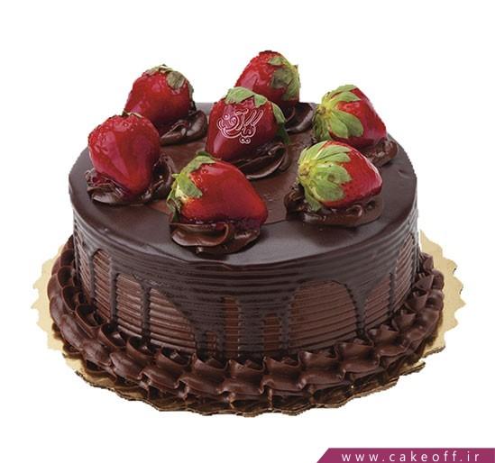 کیک تولد زیبا - کیک قناد شکلاتی | کیک آف