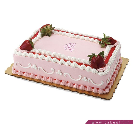 کیک در اصفهان - کیک خامه ای مستطیلی | کیک آف