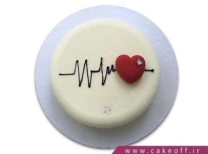 کیک ساده - کیک عاشقانه قلب تپنده  کیک آف