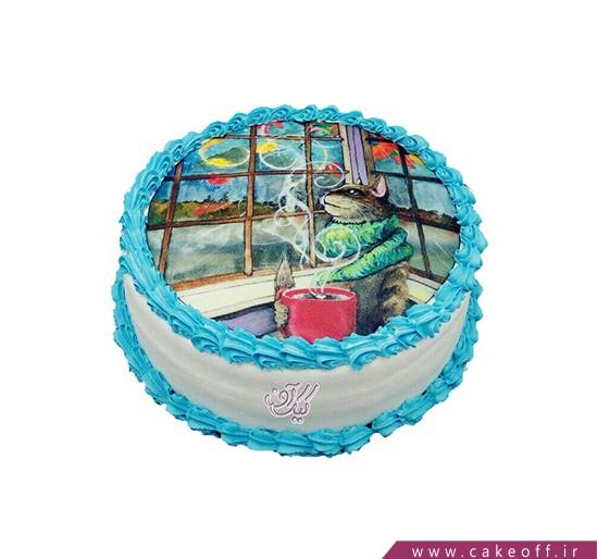 کیک تصویری گربه ای در کافه | کیک آف