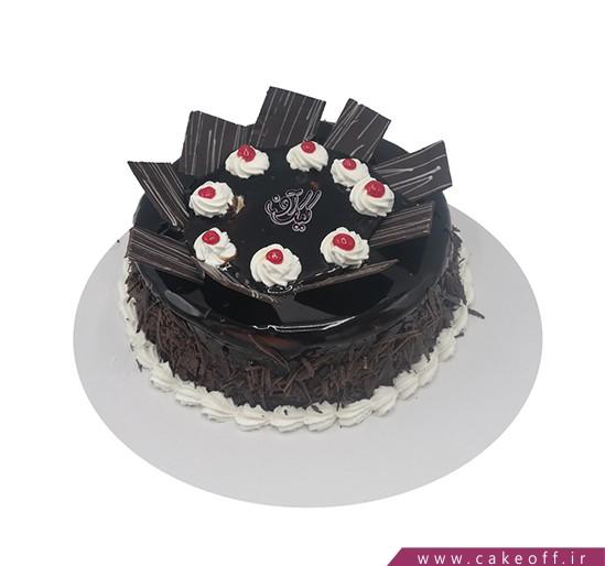 خرید اینترنتی کیک - کیک دومینو با شکلات | کیک آف