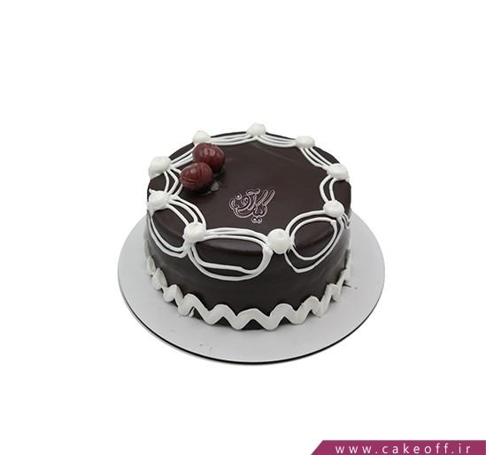 کیک تولد ساده - کیک شکلاتی دنج | کیک آف