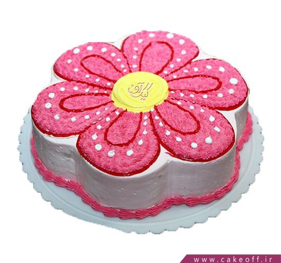 کیک دخترانه - کیک تولد گل پر | کیک آف