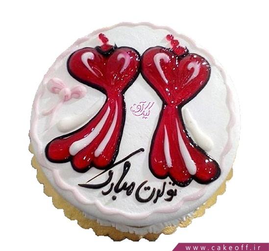 کیک تولد عاشقانه بی قرار | کیک آف