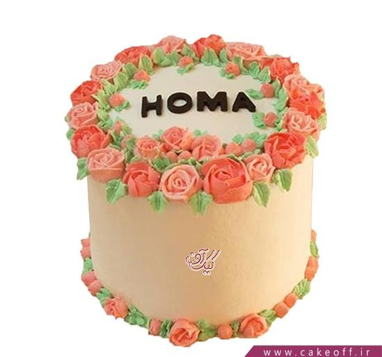 کیک خامه ای گل های باغچه | کیک آف