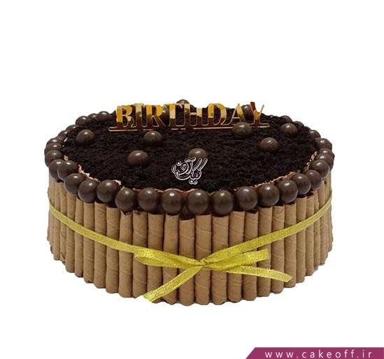 کیک تولد شکلاتی - کیک تیله شکلاتی | کیک آف