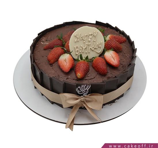 کیک تولد شکلاتی - کیک دومینو شکلاتی   کیک آف