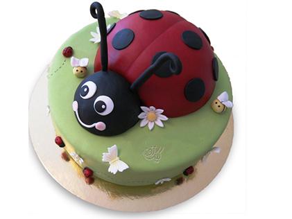 کیک تولد حیوانات - کیک کفشدوزک خندان | کیک آف