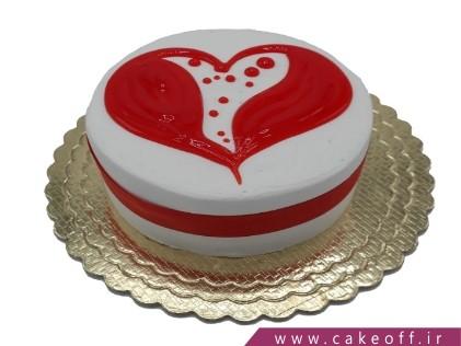 کیک تولد قلب - کیک قلب های آرام | کیک آف