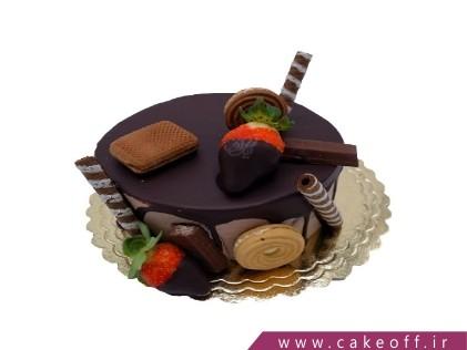 کیک تولد زیبا - کیک کاکائویی دل آرام | کیک آف