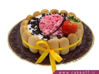 کیک تولد زیبا - کیک ساده حصار بیسکوییت | کیک آف