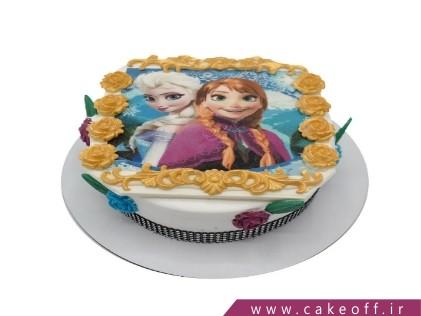 کیک تولد زیبا - کیک السا و آنای محبوب | کیک آف