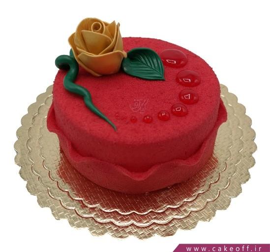 کیک تولد زیبا - کیک مخملی بارانا | کیک آف