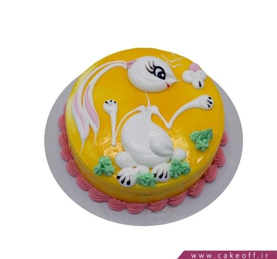 کیک تولد دخترانه جدید - کیک بچه خرگوش بازیگوش | کیک آف