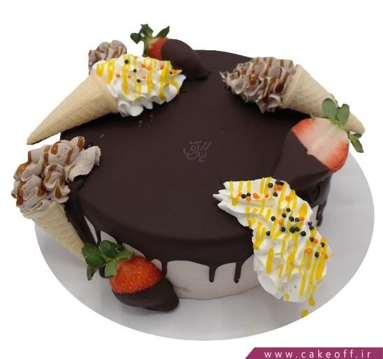 کیک وانیلی - کیک ساده قیف خامه ای | کیک آف