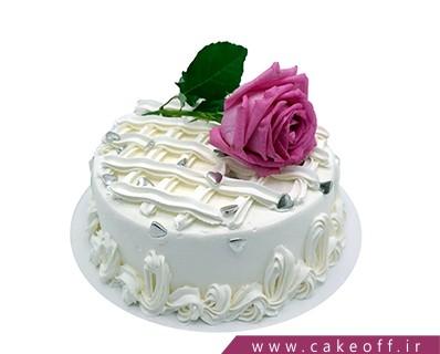 کیک تولد ساده - کیک تولد زیباگل | کیک آف