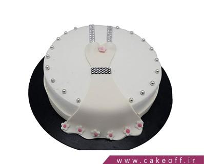 کیک وانیلی - کیک لباس عروس | کیک آف